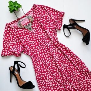 Diane von Furstenberg Beth Silk Print Dress Pink